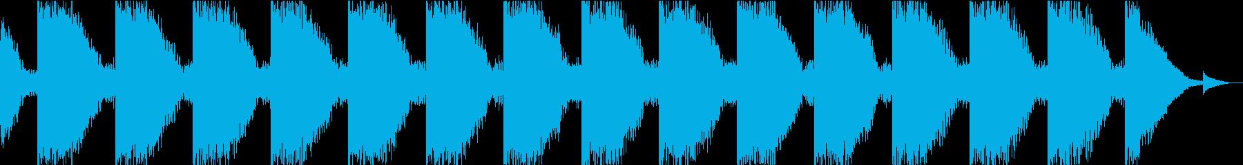 危険を知らせるブザーの音2の再生済みの波形