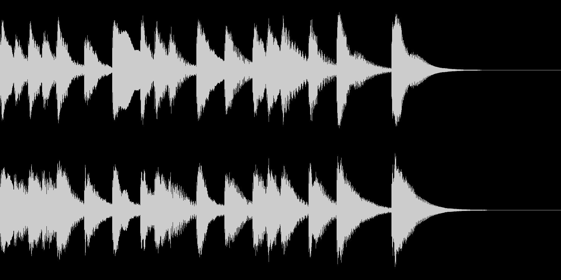 シロフォンのかわいい解決感のあるジングルの未再生の波形