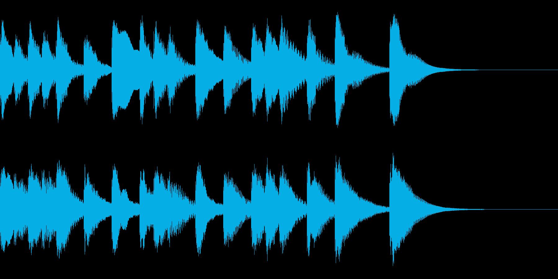 シロフォンのかわいい解決感のあるジングルの再生済みの波形