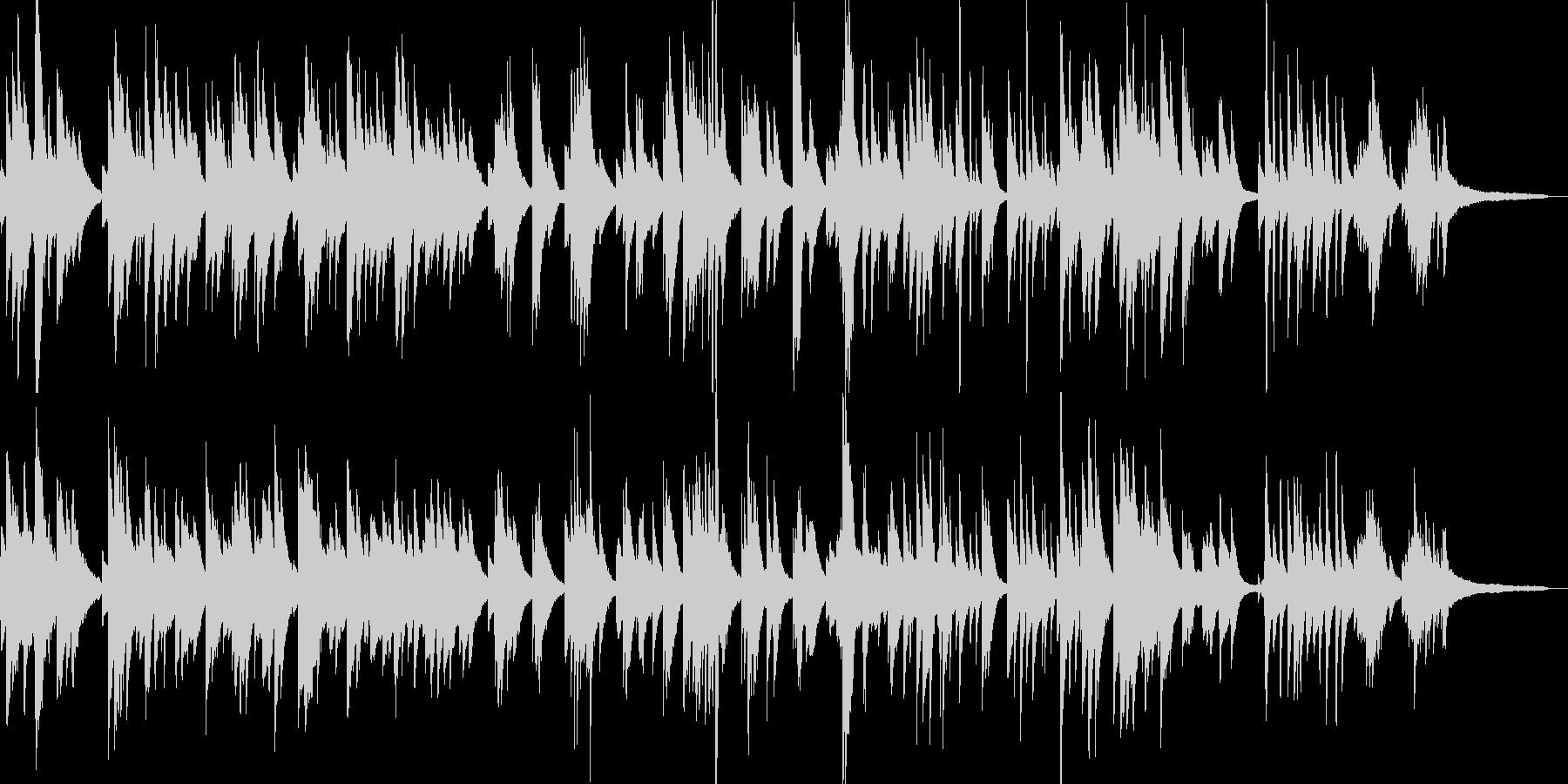 日本のメロディーをジャズ風にソロ・ピアノの未再生の波形
