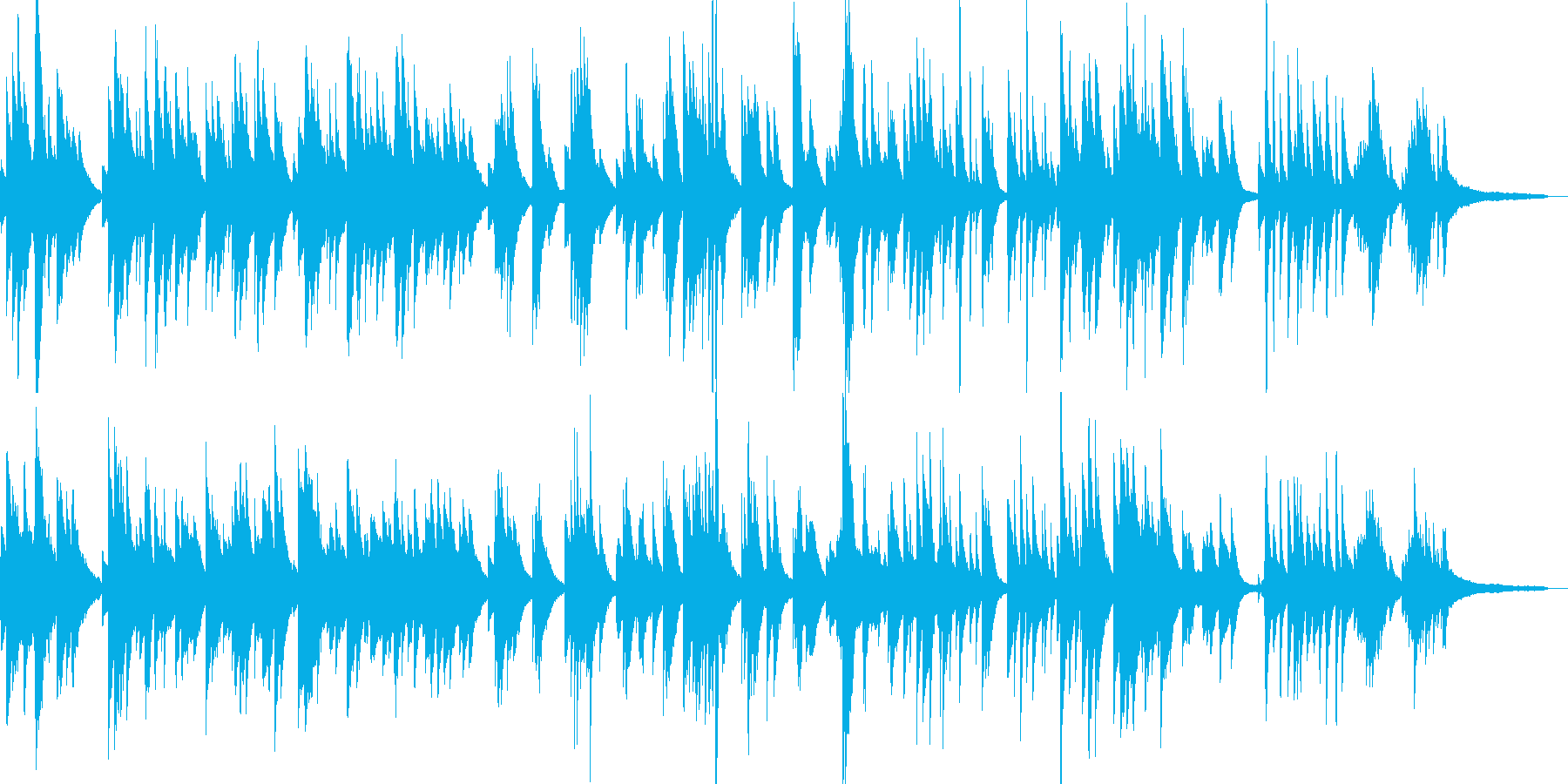 日本のメロディーをジャズ風にソロ・ピアノの再生済みの波形