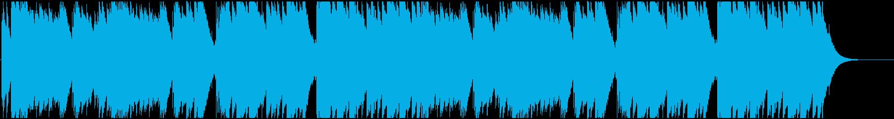 キレイな音色で木琴のような打楽器サウンドの再生済みの波形