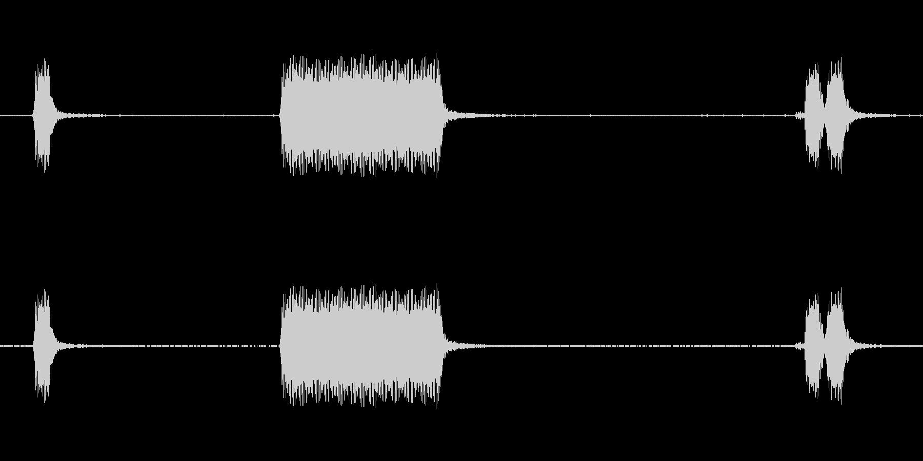トラックシェブホーンホーン外観の未再生の波形