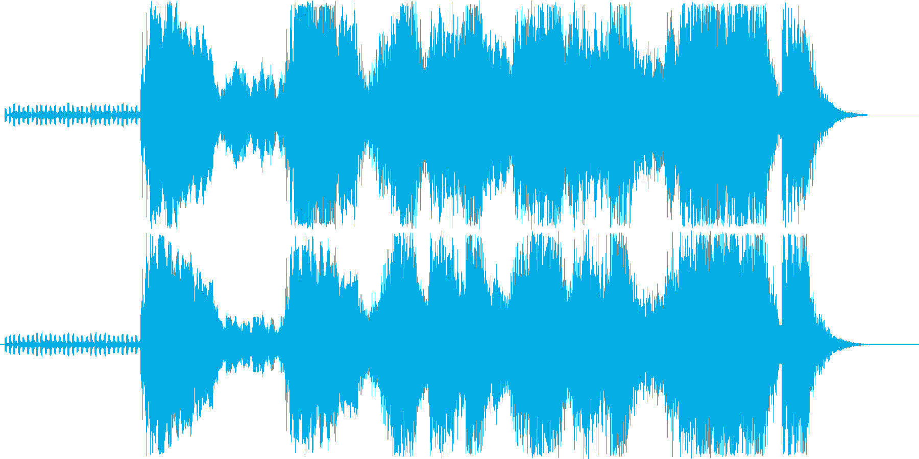 オープニングに最適なショートソングの再生済みの波形