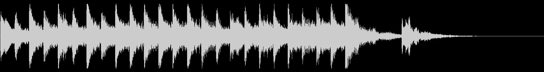 マリンバで作った10秒のジングルです。の未再生の波形