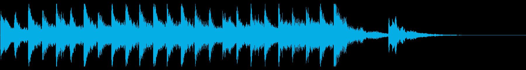マリンバで作った10秒のジングルです。の再生済みの波形