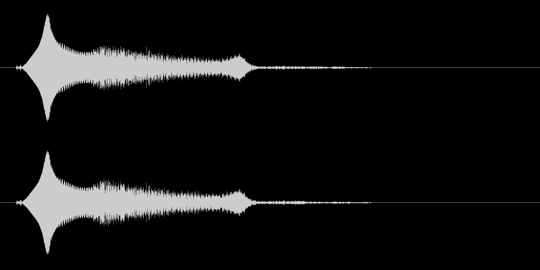 小鳥(鳴き声、さえずり、ヒナ)の未再生の波形