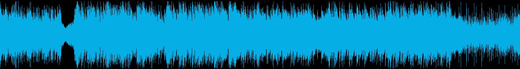 神秘的な民族音楽・ループの再生済みの波形