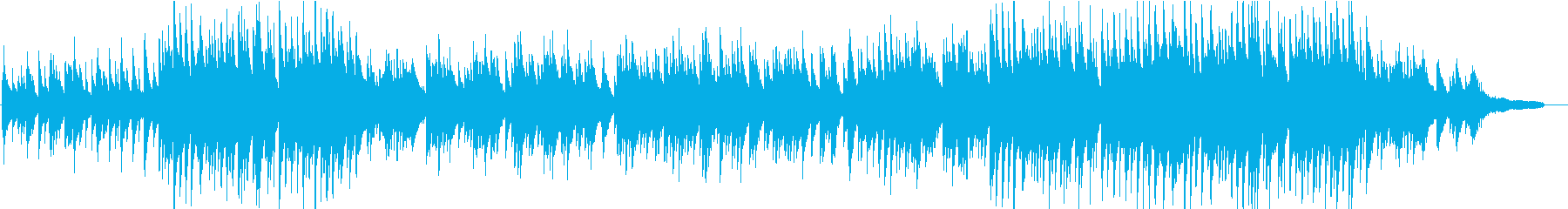 秋の情景を思わせる和風ピアノの再生済みの波形