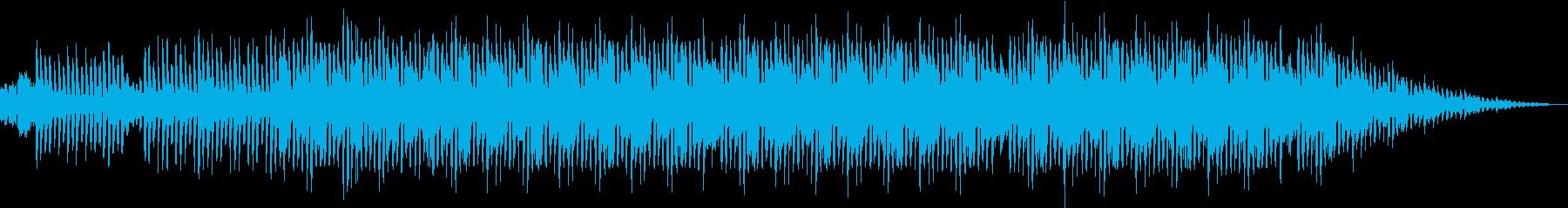 bassの効いたclubmusicの再生済みの波形