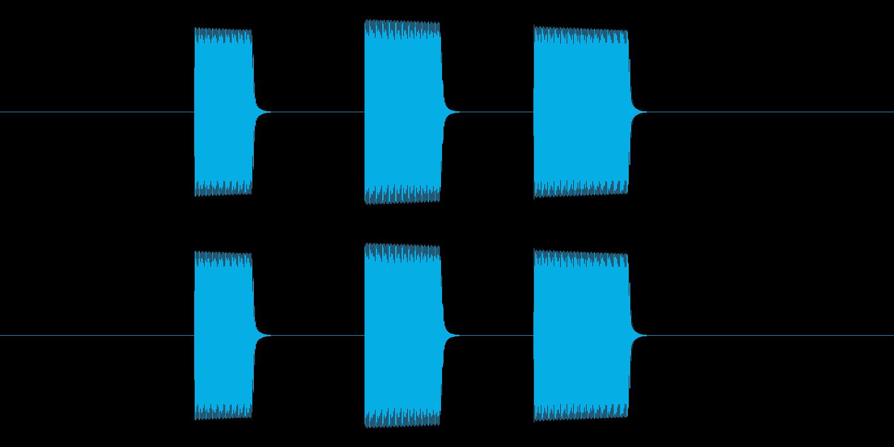ピピピ(タイマー・アラーム・通知・計測)の再生済みの波形