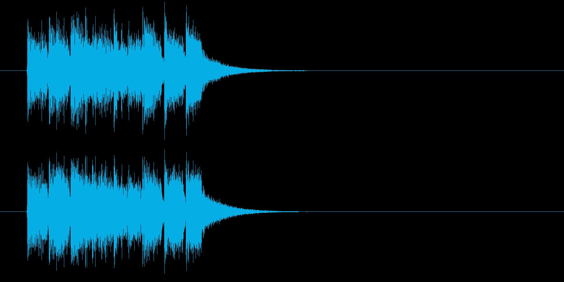 ジングル(正解はCMの後で)の再生済みの波形