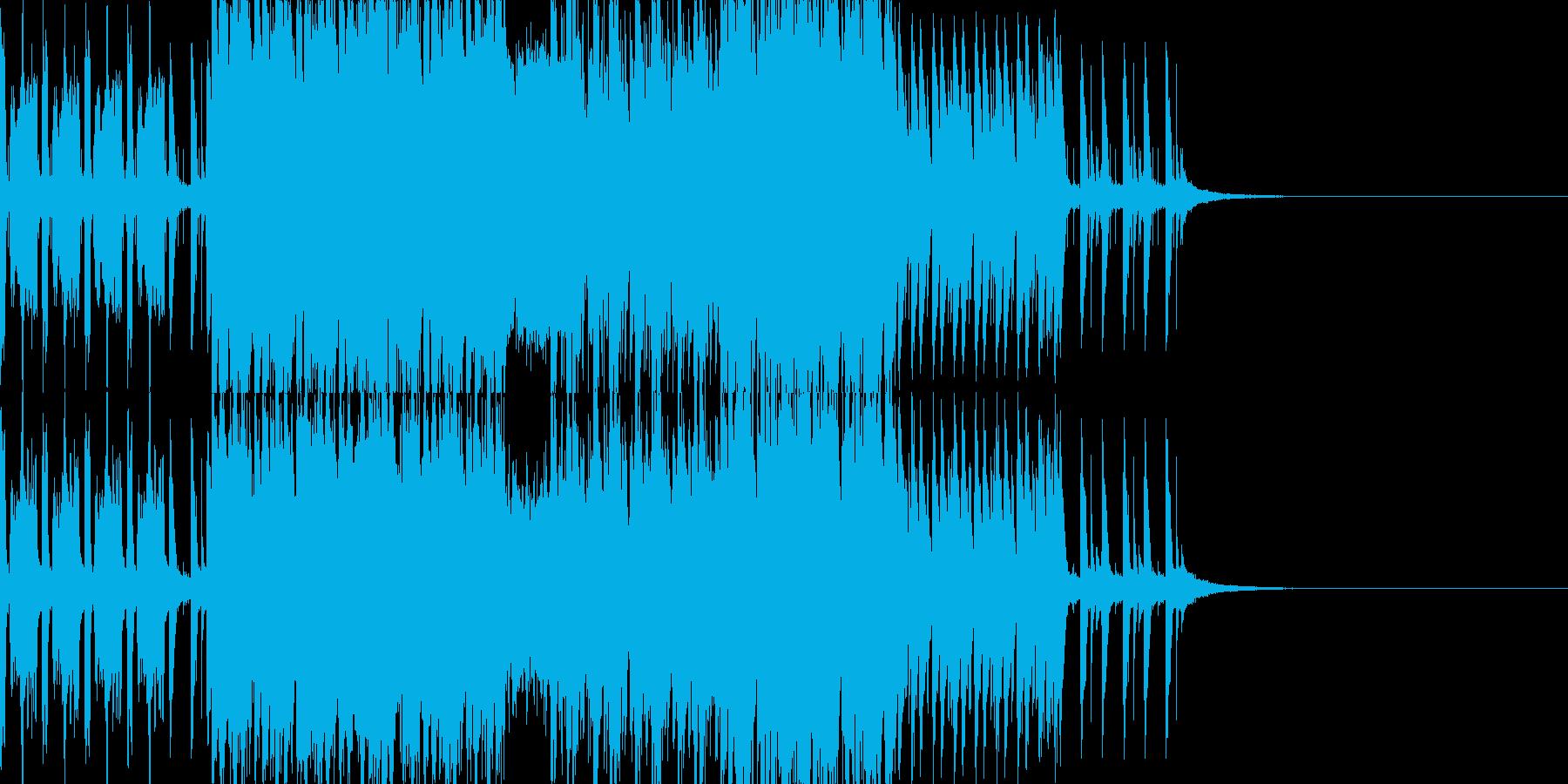 映像にどうぞ、温かみのあるテクノです。の再生済みの波形