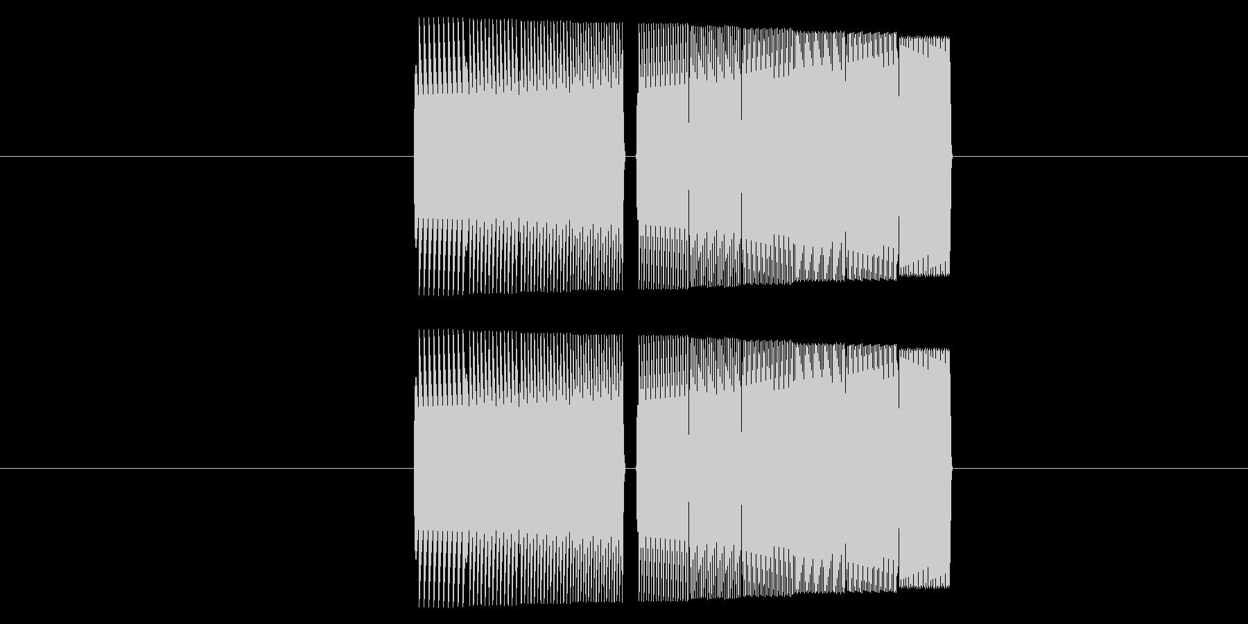 プーワッ ファミコン 上昇 Lvアップの未再生の波形