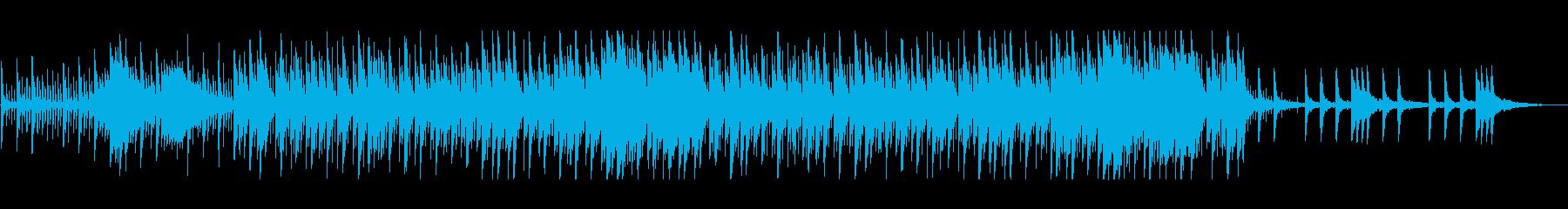 優しいリズム感のあるポップスの再生済みの波形