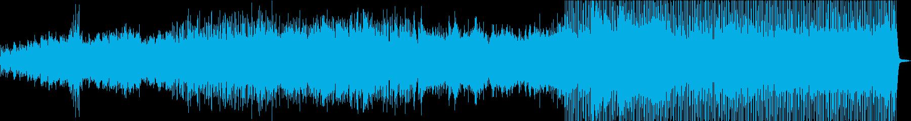 新しく前向きな高音のシンセサイザー の曲の再生済みの波形