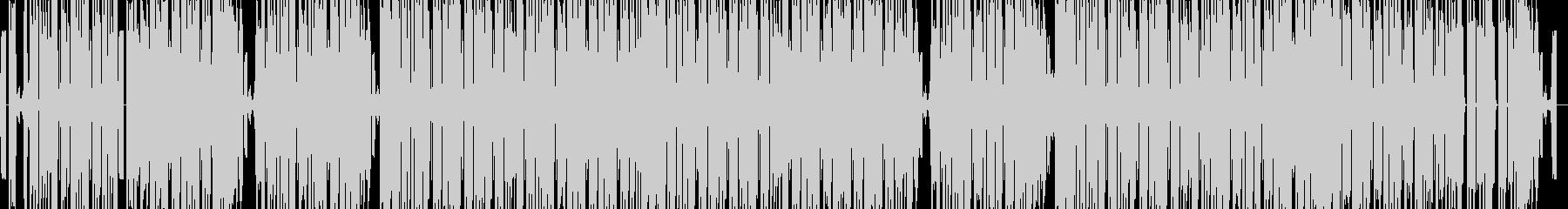 シンプルでファンキーなテクノポップの未再生の波形
