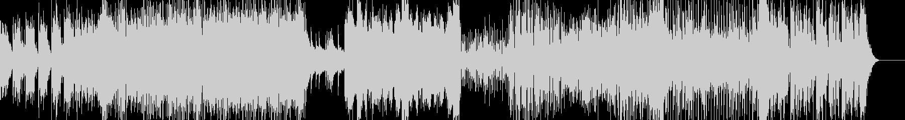 明るいポップなエレクトリカルなインスト曲の未再生の波形