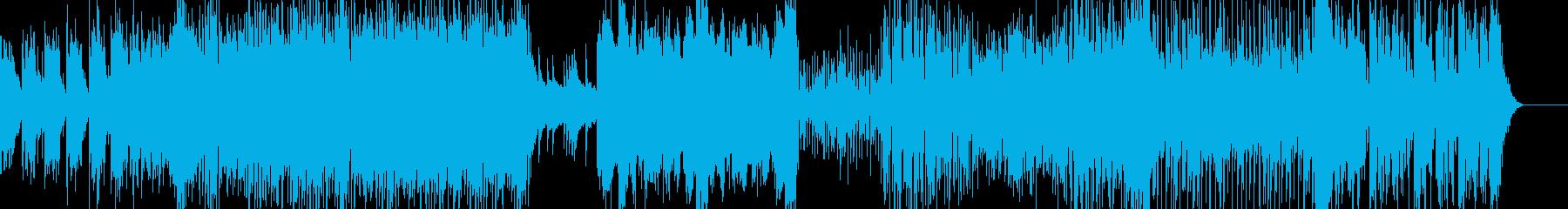 明るいポップなエレクトリカルなインスト曲の再生済みの波形