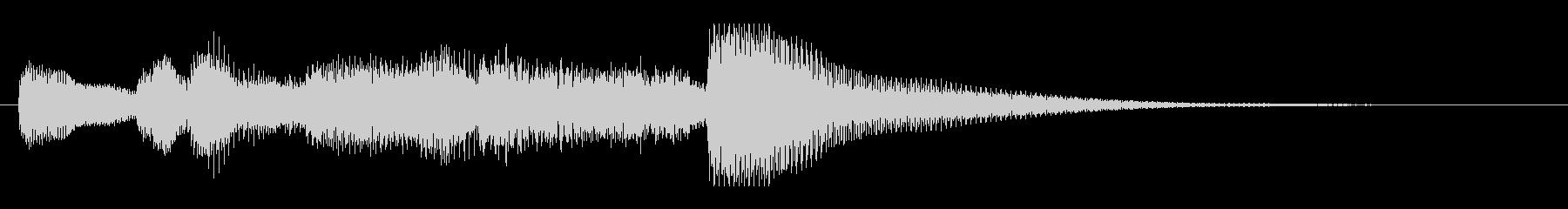 シンセ主体の明るくポップなジングルの未再生の波形