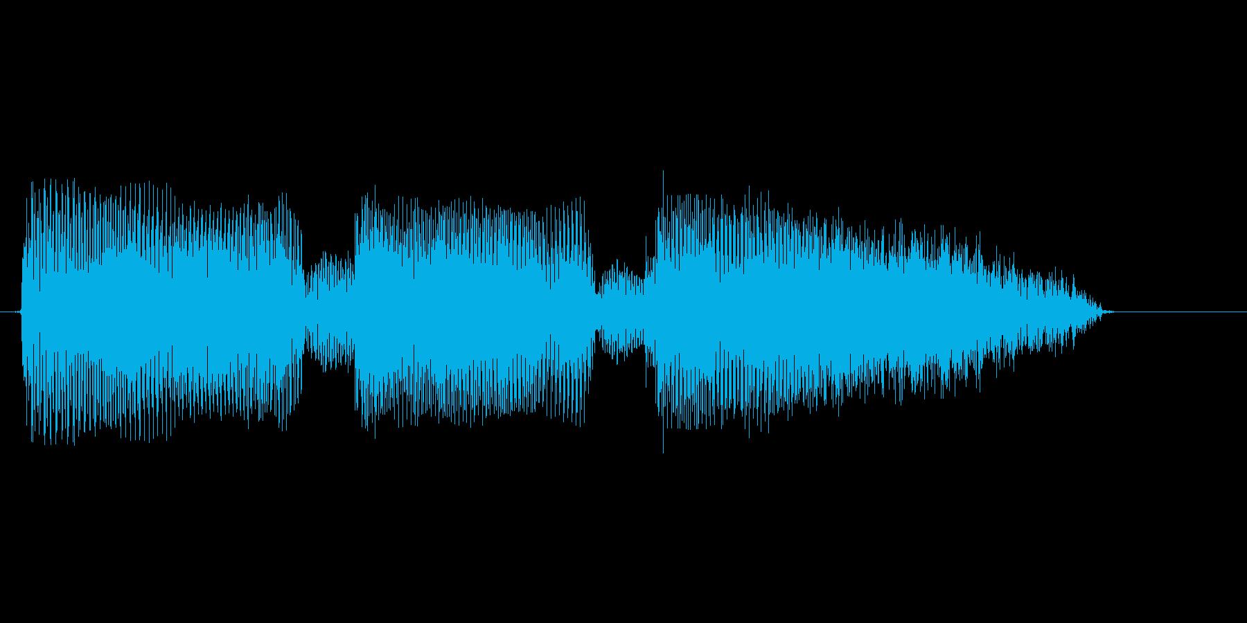 オーダーですの再生済みの波形