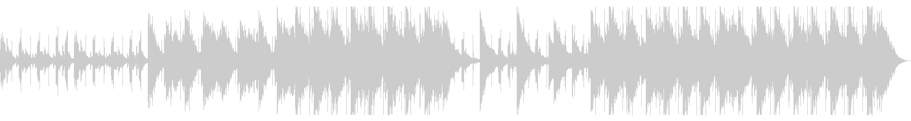 ふわふわとしたチルBGM_2の未再生の波形