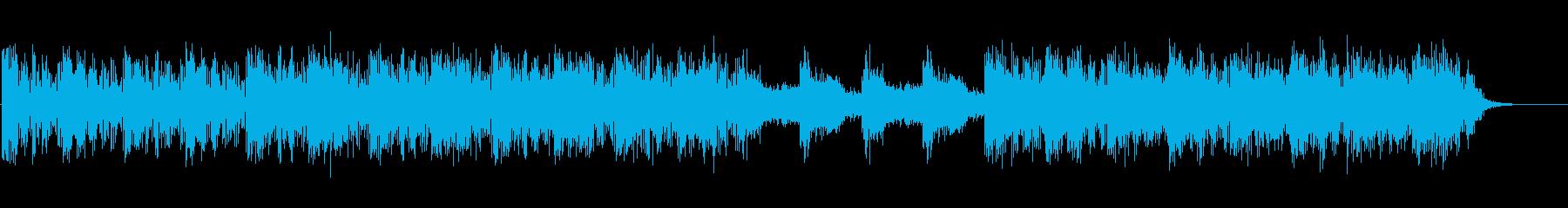 映像向けニューエイジ系のBGM(WAV)の再生済みの波形