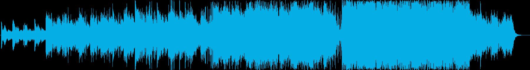 映像向けの爽やかでアコースティックな曲の再生済みの波形