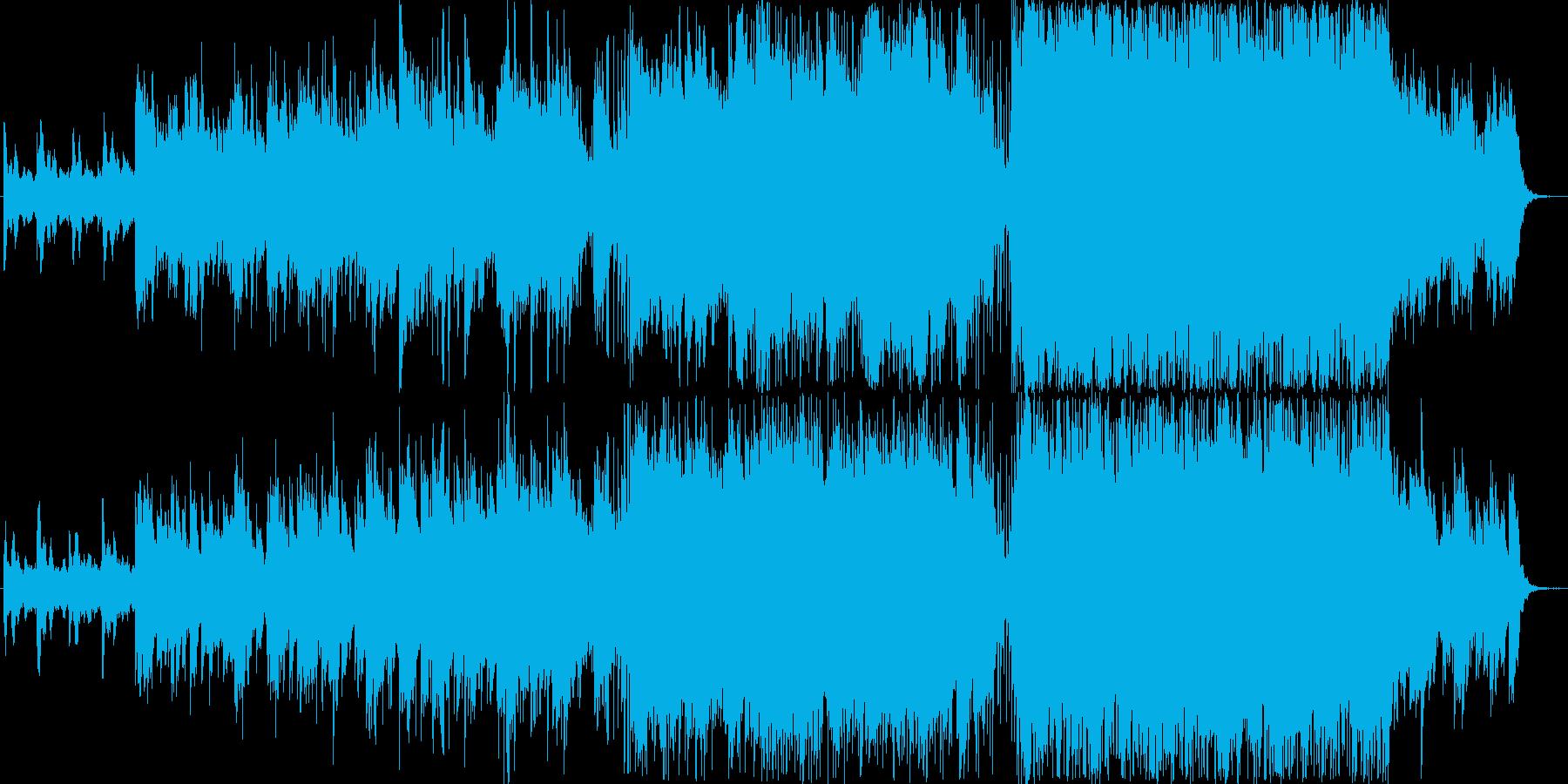 【PV用BGM】おしゃれな映像のための曲の再生済みの波形