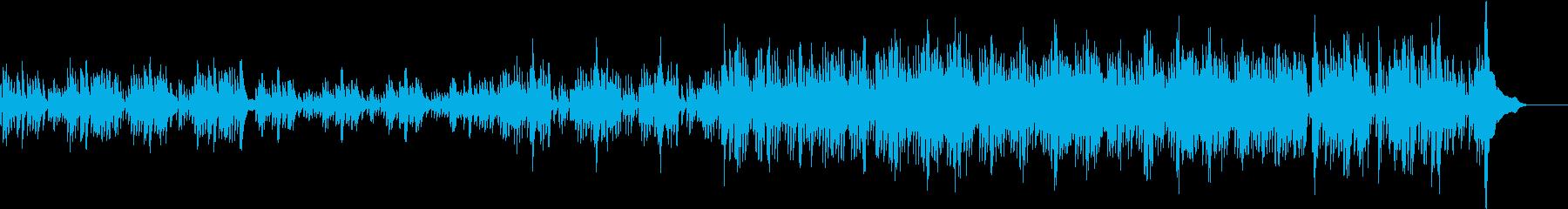 どこまでもつづく海をイメージしたハープ曲の再生済みの波形