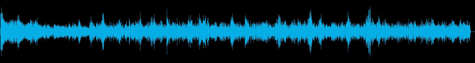 泡の音(大量、小さい泡、水流)の再生済みの波形