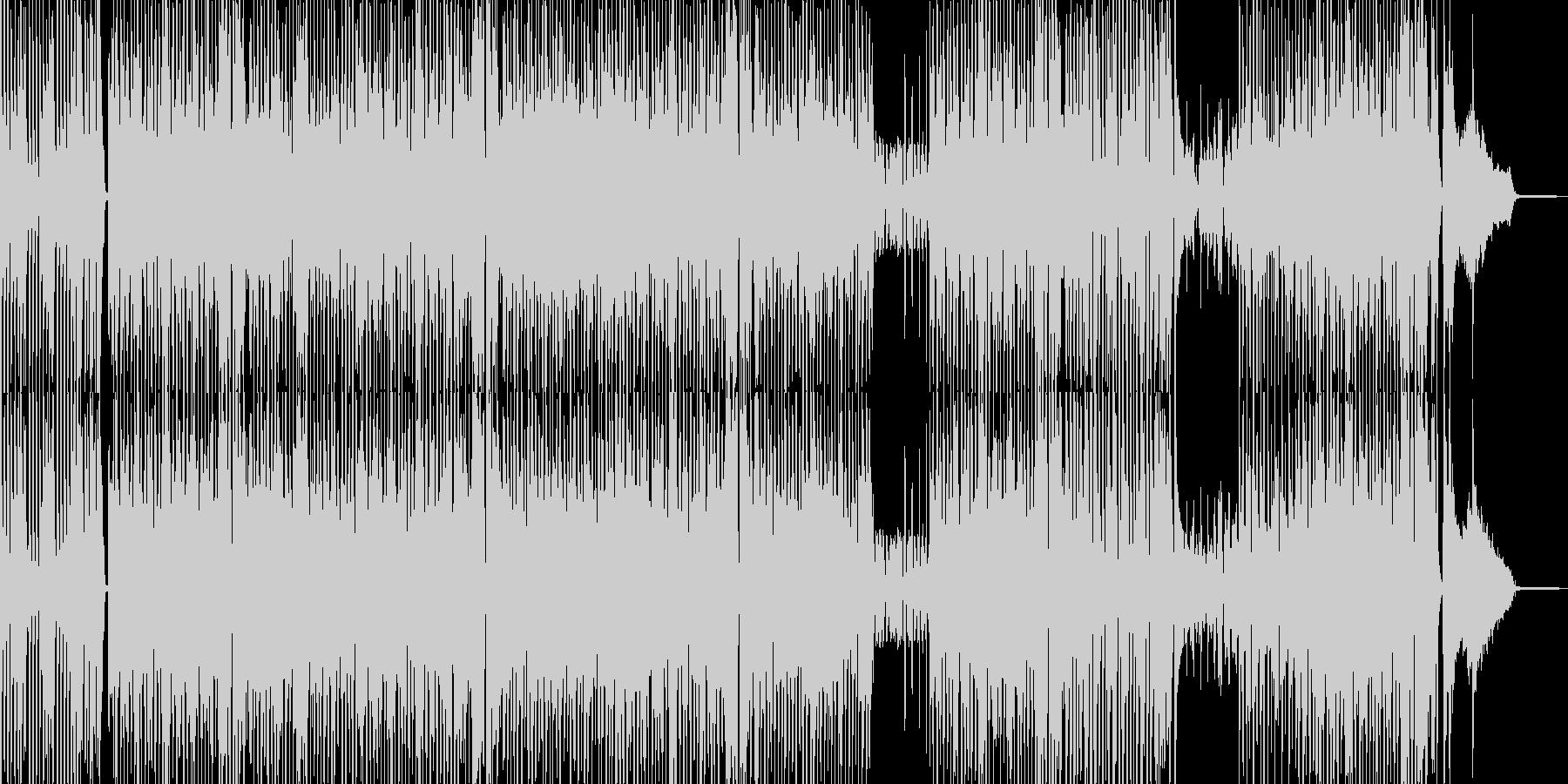 カートゥーン調のピアノ&サックスジャズの未再生の波形