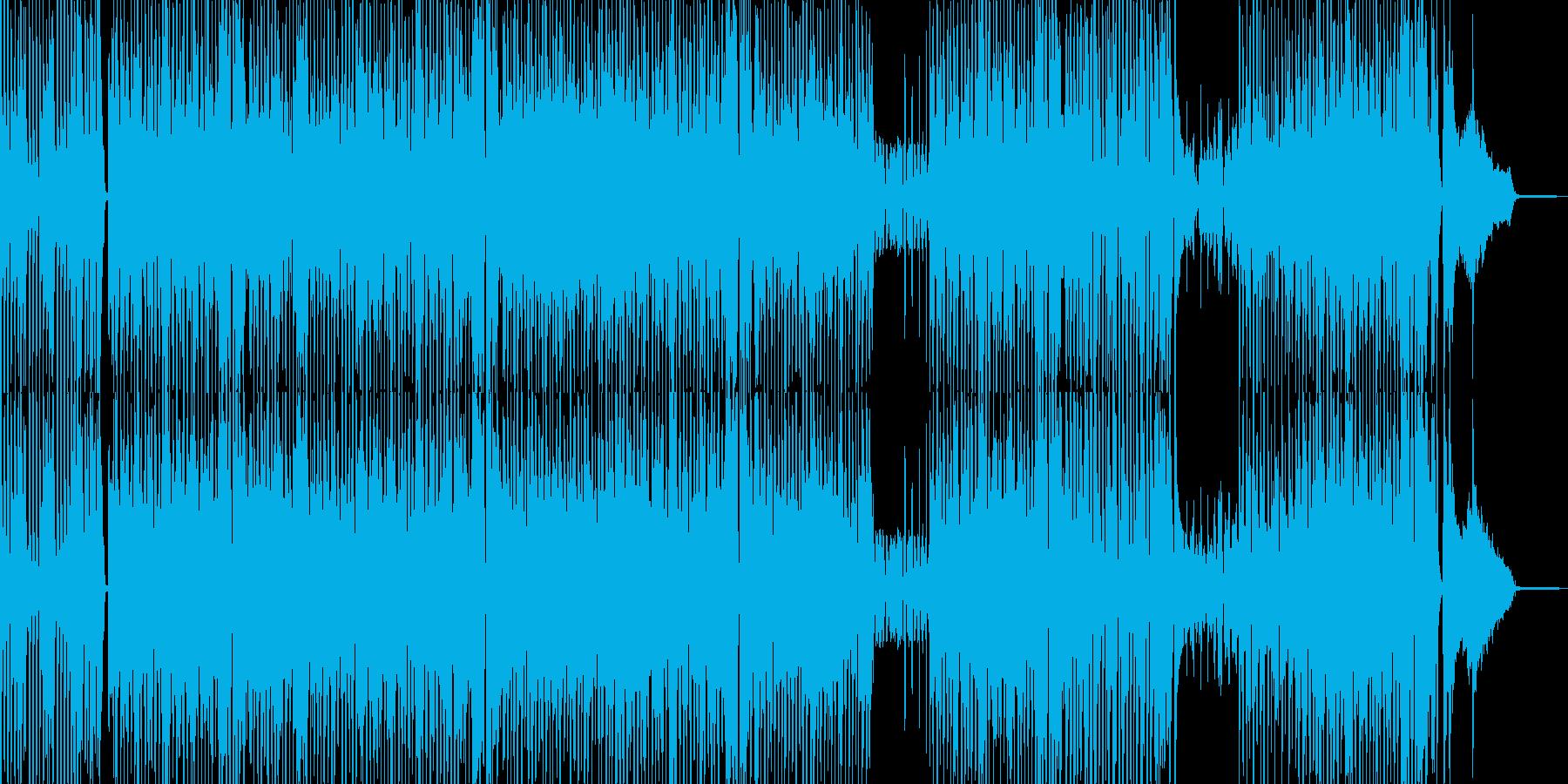 カートゥーン調のピアノ&サックスジャズの再生済みの波形
