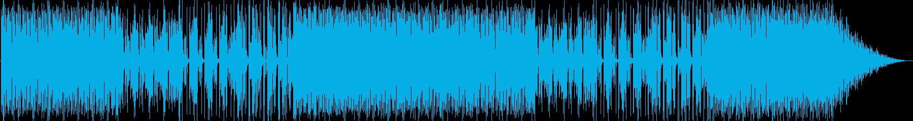 どんよりとした雰囲気のBGMの再生済みの波形