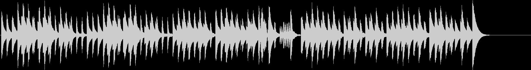 鉄琴とピアノのほのぼのかわいいBGMの未再生の波形