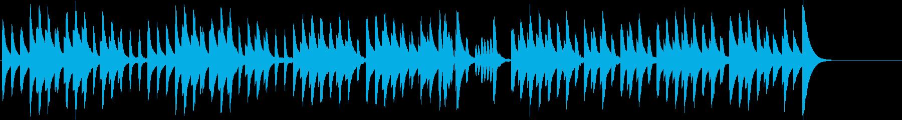 鉄琴とピアノのほのぼのかわいいBGMの再生済みの波形