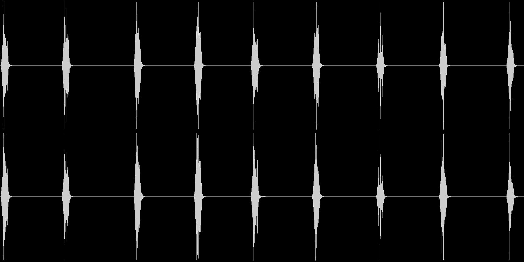 スズメの鳴き声 B 長めの未再生の波形