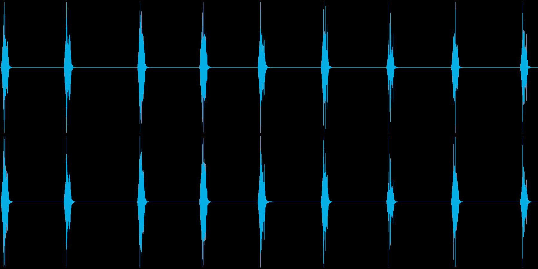 スズメの鳴き声 B 長めの再生済みの波形