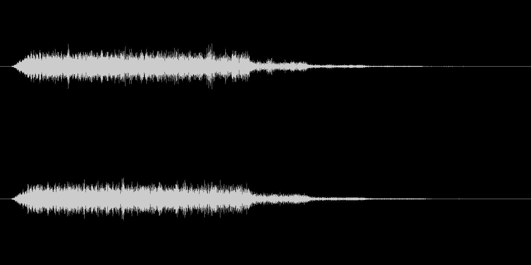 失敗した時のコミカルな音の未再生の波形