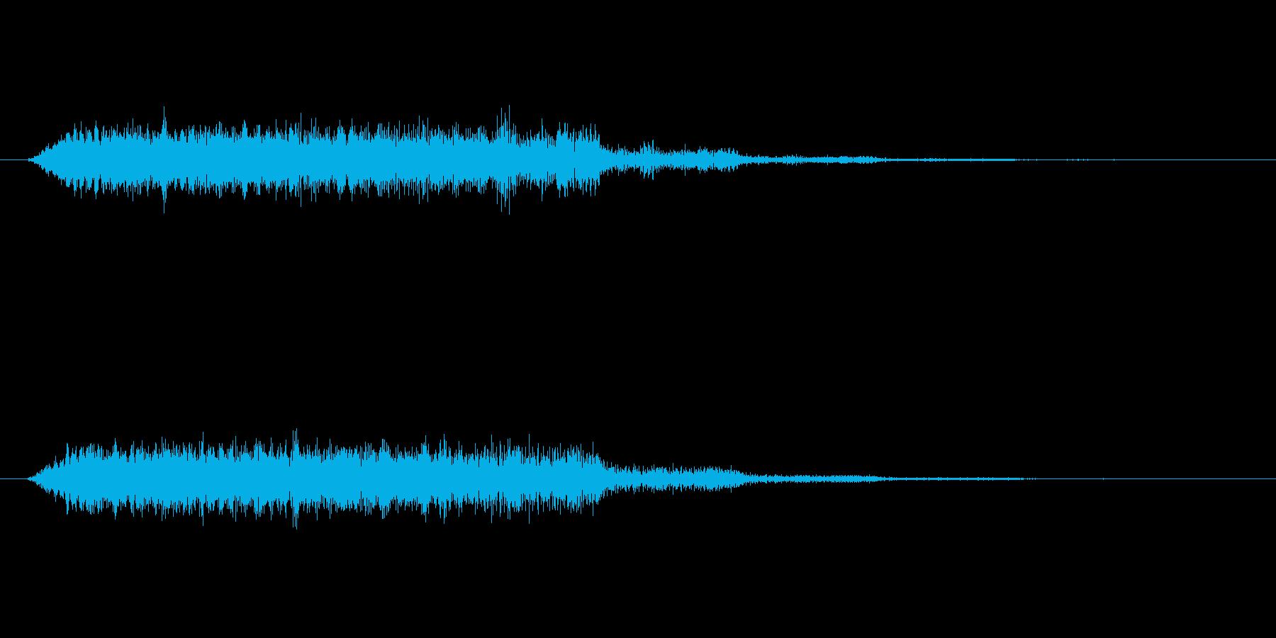 失敗した時のコミカルな音の再生済みの波形