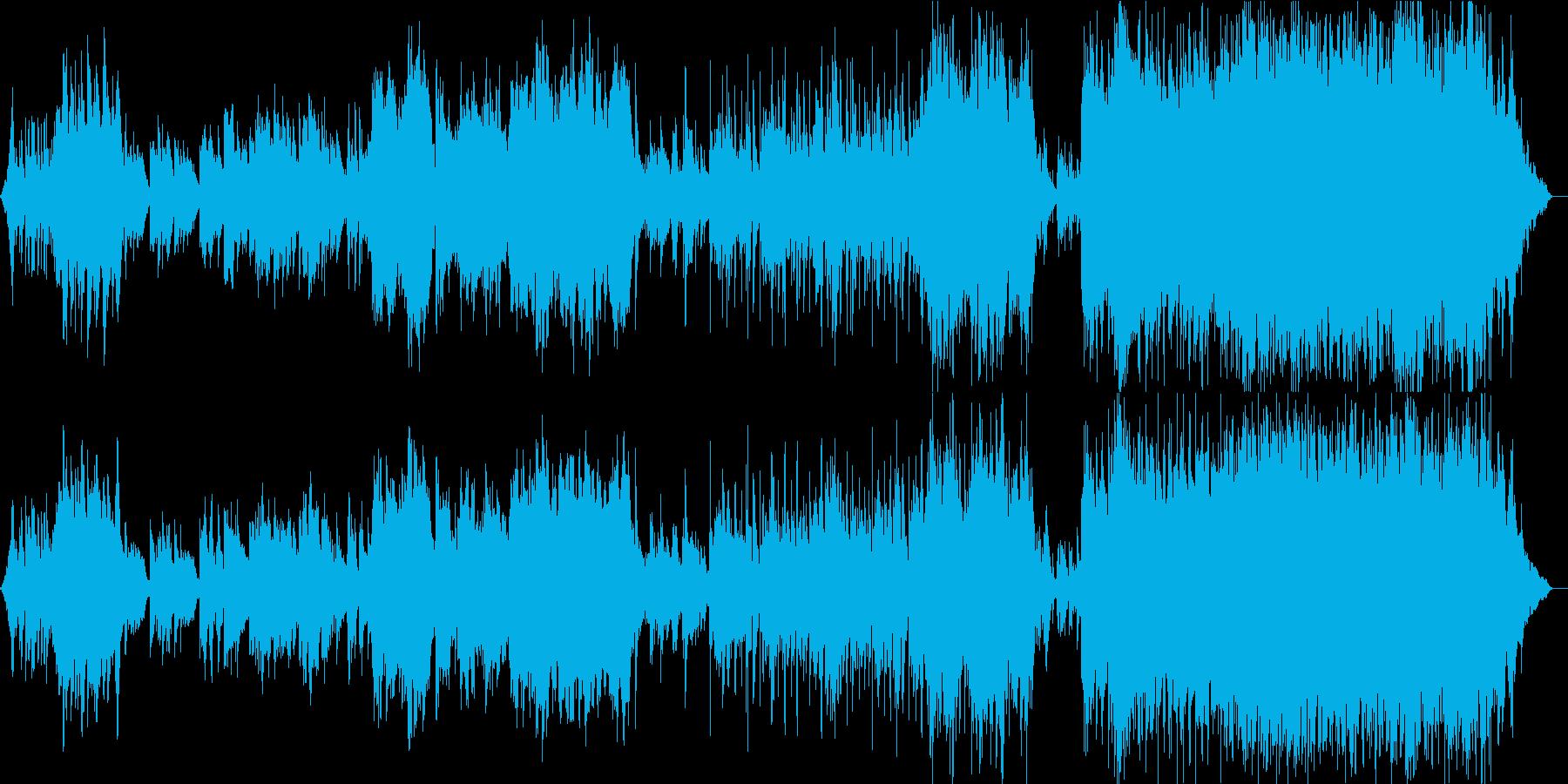 夏の終わり 風 切ないピアノインスト曲の再生済みの波形