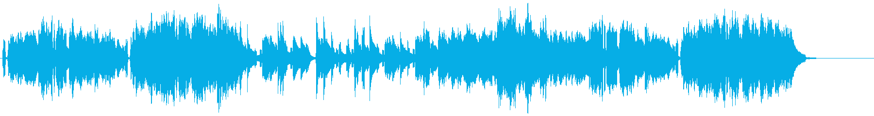 あかるい雰囲気のオープニング曲の再生済みの波形