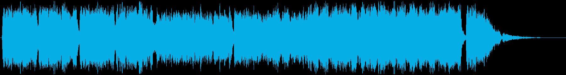 晴れやかなヴァイオリン三重奏の再生済みの波形