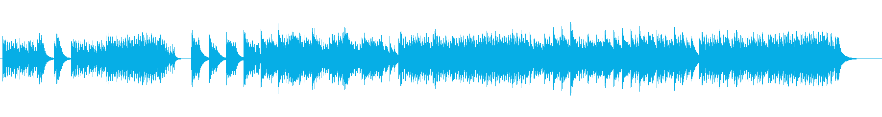 不気味な雰囲気のオルゴールの再生済みの波形