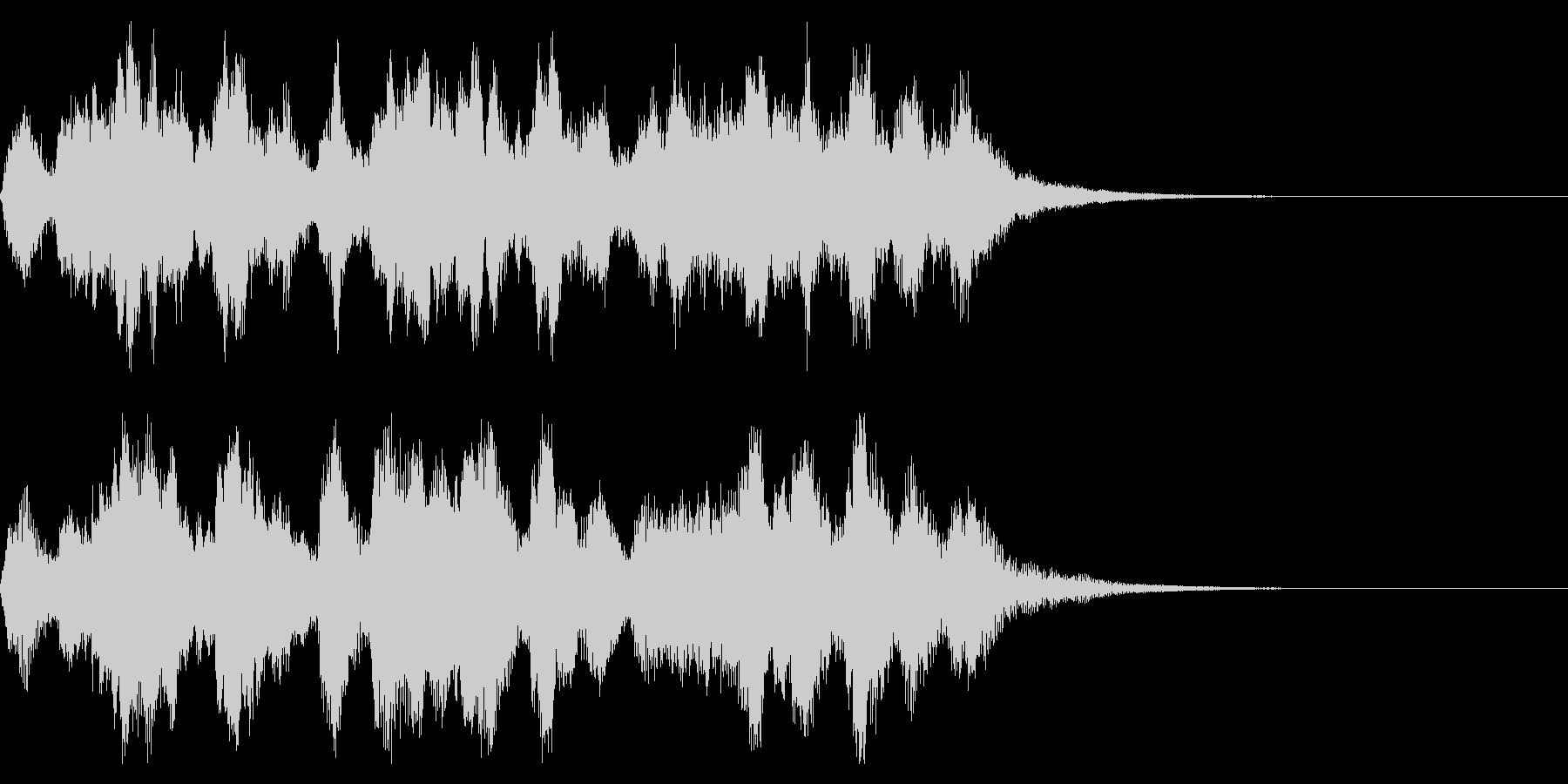 管弦楽によるほのぼのとしたジングルの未再生の波形