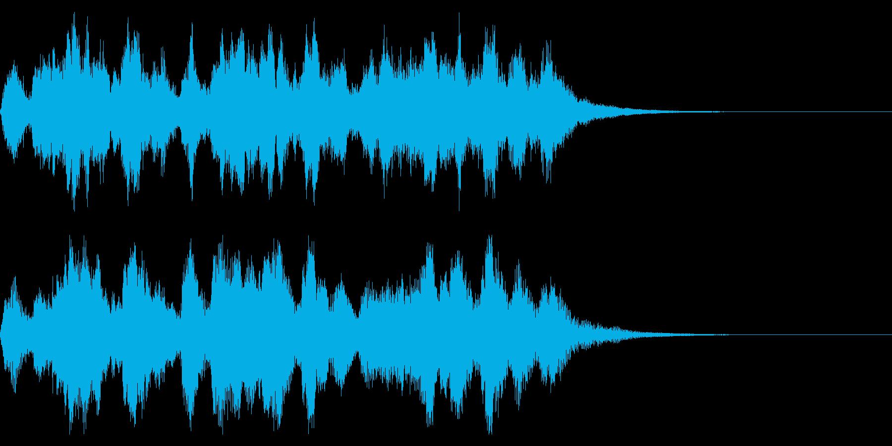 管弦楽によるほのぼのとしたジングルの再生済みの波形