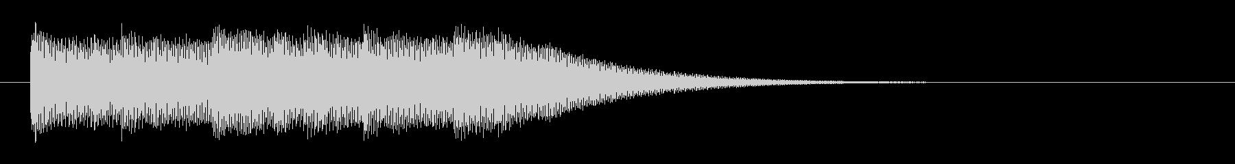 スタイリッシュな映像オープニングロゴの未再生の波形