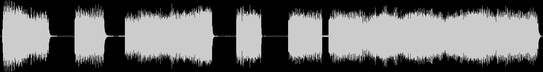 急速なトーンバーストの未再生の波形