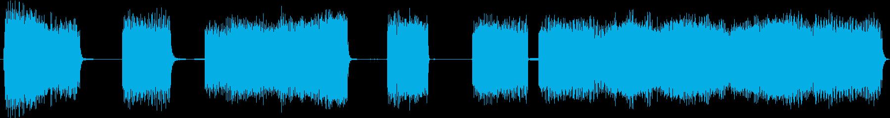 急速なトーンバーストの再生済みの波形