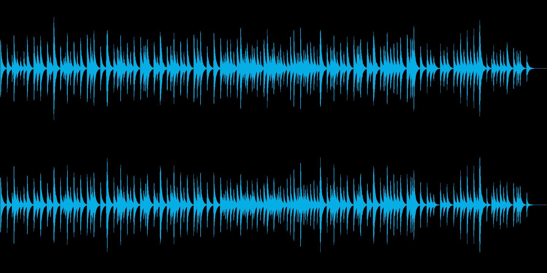 メンデルスゾーン結婚行進曲のオルゴール②の再生済みの波形